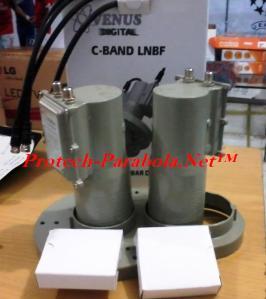 LNB C Band 2 in 1 VENUS DUO 8122 Palapa D - Telkom 1 untuk 2 Receiver