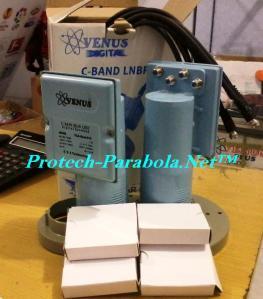 LNB C Band 2 in 1 VENUS KEMBAR 8166 untuk 4 Receiver