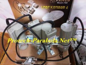 LNB C Band 4in1 VENUS 780 untuk 1 Receiver