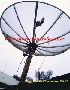 Parabola 9 feet dengan rotator buatan sendiri (otot-tor)