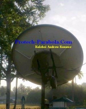 Arah Dish Parabola ke Satelit Optus