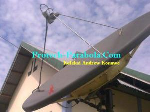 Dish Solid Fiber 195 cm merek Andrew USA di Posisi Sat OPTUS
