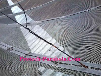 Kawat Setelan untuk Mengurangi Baling Parabola