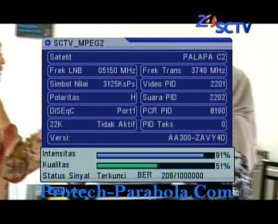 SQ SCTV Mpeg2 Freq 3749 H 3125 @ Palapa D