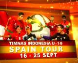 Jadwal Lengkap TIMNAS U-19 Tour Spanyol 16-25 September2014