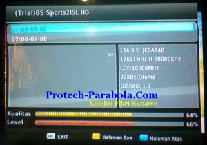 Freq 12611 H 30000 at JCSAT 4B dengan Dish Indovision, TOP TV, TelkomVision