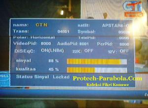 SQ Apstar 6 Freq 4051 H 9625 dengan Dish TelkomVision, TransVision, YES TV