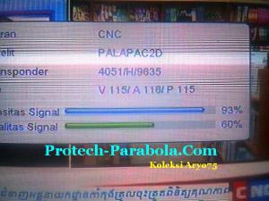 SQ Apstar 6 Freq 4051 H 9635 dengan Dish TelkomVision, TransVision, YES TV